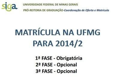 Matricula UFMG 2014-02